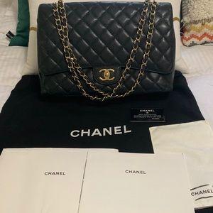 Chanel classic maxi double flat bag 100% original